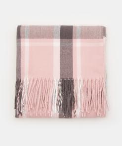 Sinsay - Fular cu franjuri - Roz