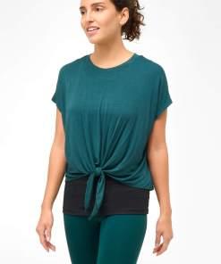 Tricou dublu cu model tip legătură Verde