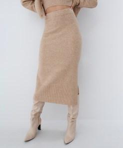 Mohito - Fustă tricotată Eco Aware - Bej