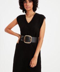 Rochie din tricot fin cu decolteu in V 4056180