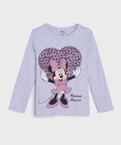 Sinsay - Tricou Minnie Mouse - Gri deschis
