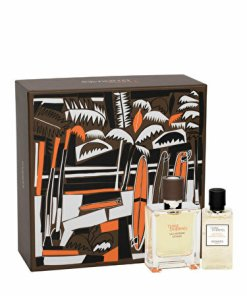 Set cadou Hermes Terre d'Hermes Eau Intense Vetiver (Apa de parfum 50 ml + Gel de dus 40 ml), pentru barbati