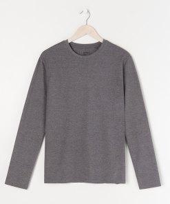 Sinsay - Tricou basic cu mânecă lungă - Gri
