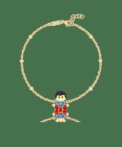 Bratara pentru copii cu Superman din aur galben de 14K 26438