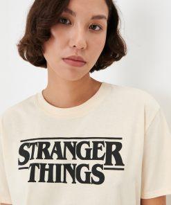 Sinsay - Tricou Stranger Things - Ivory