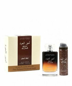 Set cadou Lattafa Ameer al Oudh (Apa de parfum 100 ml + Deospray 50 ml), pentru barbati