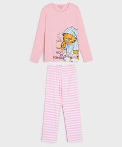 Sinsay - Pijama din două piese Garfield - Roz