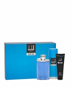 Set cadou Dunhill Desire Blue (Apa de toaleta 100 ml + Gel de dus 90 ml + Deodorant 195 ml), pentru barbati