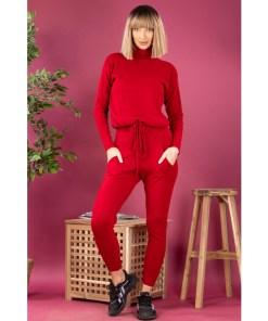 Compleu Dama Tricotat BiddyOne Rosu