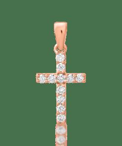 Pandant din aur roz de 18K cu diamante de 0.121ct 20549