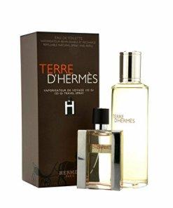 Set cadou Hermes Terre D'Hermes (Apa de toaleta 30 ml + Apa de toaleta refill 125 ml), pentru barbati