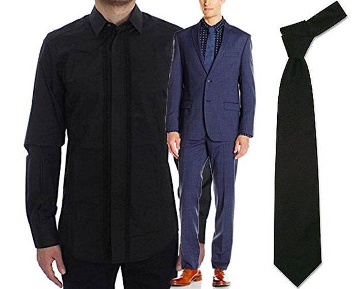 Wie Trägt Man Einen Blauen Anzug Hemd Und Krawattenkombinationen