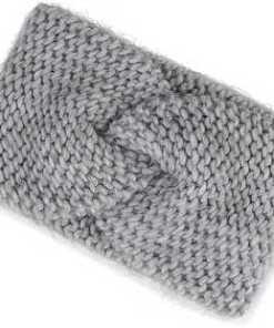 Strick-Stirnband von Belmondo in grau für Damen