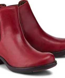 Chelsea-Boots Make von Fly London in rot für Damen. Gr. 36,37,38,39,40,41