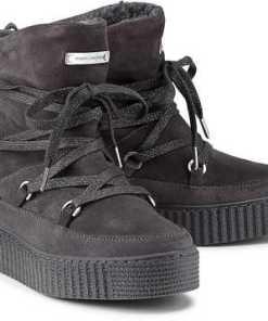 Boots Cozy Warmlined von Tommy Hilfiger in grau für Damen. Gr. 36,37,38,39,40,41,42