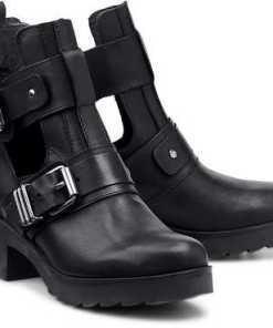 Trend-Stiefelette von Another A in schwarz für Damen. Gr. 36,41