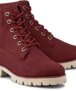 Boots Heritage von Timberland in rot für Damen. Gr. 37,37 1/2,38,38 1/2,39,39 1/2,40,41,42 1/2
