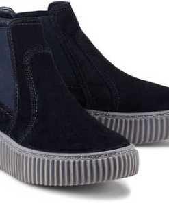 Chelsea-Boots von Paul Green in blau für Damen. Gr. 37,37 1/2,38,38 1/2,39,40,40 1/2,41