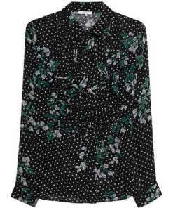 Rometty Georgette Flower Black