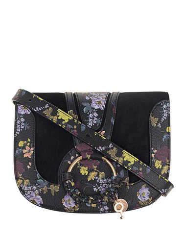 Flowers Leather Mix Black