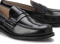 Penny-Loafer von Church and Co. in schwarz für Herren. Gr. 42.5,43.5