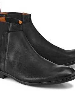 Chelsea-Stiefelette von Flare & Brugg in schwarz für Herren. Gr. 41,43