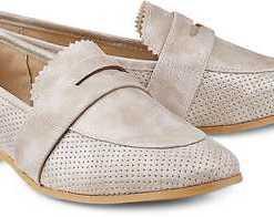 Penny-Loafer von Drievholt in beige für Damen. Gr. 36,37,38,39,40,41