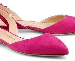 Velours-Ballerina von Cox in pink für Damen. Gr. 36,37,38,39,40,41,42