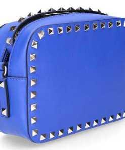Valentino Handtasche B0809 Kalbsleder Nieten Gold bau