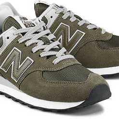 Retro-Sneaker 574 von New Balance in khaki für Damen. Gr. 37,37.5,38,38.5,39.5,40.5,42