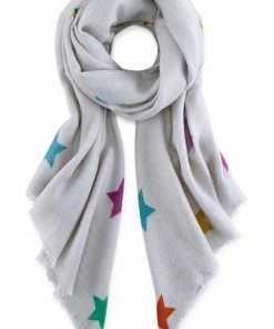 Schal Fluffy Stars von Codello in grau für Damen