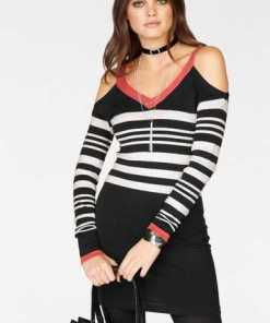 Melrose Strickkleid mit Cold Shoulder