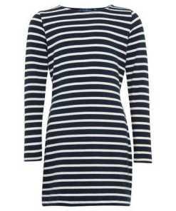 TOM TAILOR A-Linien-Kleid »Gestreiftes Kleid mit Bindeband«