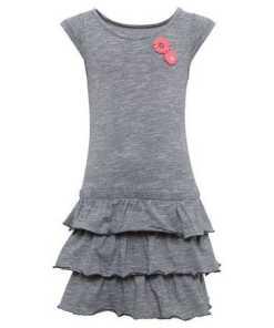 TOM TAILOR A-Linien-Kleid »Gemustertes Kleid mit Volants«