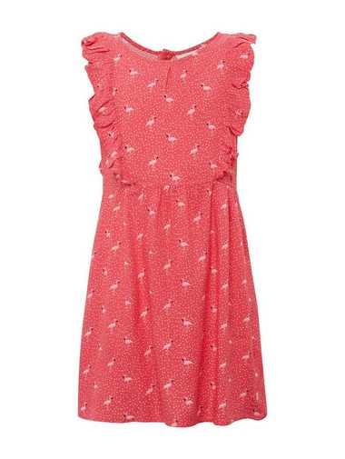 TOM TAILOR A-Linien-Kleid »Gemustertes Kleid mit Rüschen«