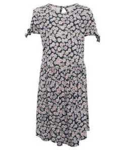 TOM TAILOR A-Linien-Kleid »Kleid mit Schleifen-Details«