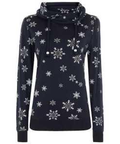 Damen Sweatshirt mit Schneeflocken-Prints