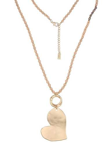 Leslii Halskette mit mattem Herz-Anhänger