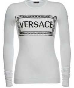 Versace Bedrucktes Longsleeve aus Jersey