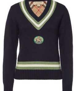 Burberry Bestickter Pullover Morice aus Wolle und Kaschmir