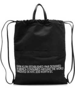 CALVIN KLEIN 205W39NYC Bestickter Rucksack mit Leder und Tunnelzug