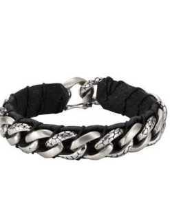 NOX Armband »Edelstahl Leder schwarz«