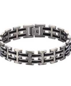 NOX Armband »Edelstahl Kautschuk«