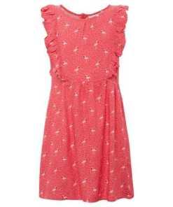 A-Linien-Kleid »Gemustertes Kleid mit Rüschen«