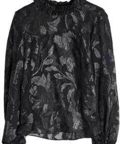 Isabel Marant Bestickte Bluse mit Seide