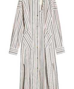 Isabel Marant Gestreiftes Kleid aus Baumwolle