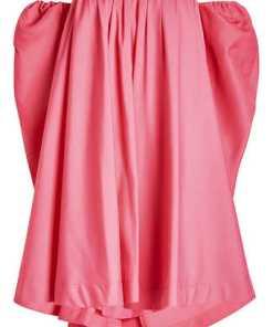 CALVIN KLEIN 205W39NYC Schulterfreies Kleid mit Seide