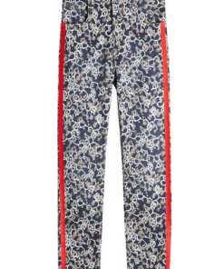 Isabel Marant Étoile Bedruckte Cropped Jeans Fliff mit Zierborten