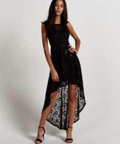 Apricot Spitzenkleid »Sequin Lace High Low Party Dress« mit Pailletten
