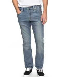 Quiksilver Straight Fit Jeans »Revolver Coolmax Surf Blue«